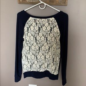 Anthropologie Lace back sweater